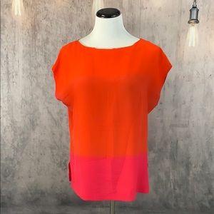 C. Wonder Silk Color Block Blouse